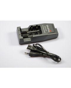 Lyktene WF-139 avgift for 18650/CR123A/14500 oppladbare Lithium-batterier