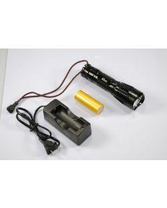 UniqueFire UF-2180 Cree XM-L T6 3-modus 1200-Lumen minne LED lommelykt inkludert battry & lader