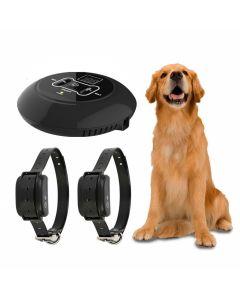 Nytt trådløst elektronisk kjæledyr hund gjerde system og hund trening krage pipesignal støt vibrasjon trening og gjerde funksjon