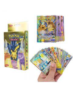 100 forskjellige Pokémon-kort 37 GX 63 TAG TEAM Forseglede Booster Box-handelskort