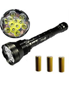 EternalFire 12T6 høy strøm 12 * Cree XM-L T6 LED lommelykt 13800 lumen 5 moduser LED lommelykt sett-komplett sett