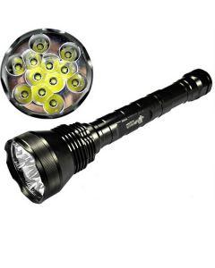 EternalFire 12T6 høy strøm 12 * Cree XM-L T6 LED lommelykt 13800 lumen 5 moduser LED lommelykt sett lys enhet bare