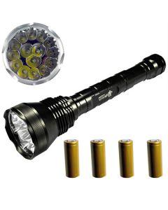 EternalFire 15T6 High Power 15 * Cree XM-L T6 LED lommelykt 18000 lumen 5 moduser LED lommelykt sett-komplett sett