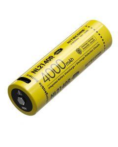 NITECORE NL2140R 4000mAh 3.6V 14.4Wh 21700 USB-C Li-ion oppladbart batteri