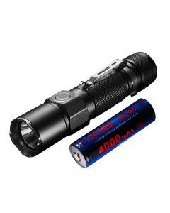 JETBEAM KO-02 EDC Cree XHP35 1800LUMENS 21700 batteri USB Oppladbar LED lommelykt