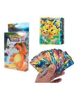 100 forskjellige Pokemon -kort 20MEGA 58BASIC 20GX 1TAG TEAM 1ENERGY Booster Box -handelskort