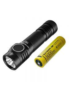 Nitecore E4K 4 x CREE XP-L2 V6 LED 4400 lumen 21700 batteri lommelykt