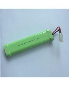 Ni-MH 2500mAh 9.6V SC * 8 RC hvit plugg batteripakke