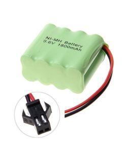 Ni-MH AA sm plugg 9.6V 1800mAh batteripakke