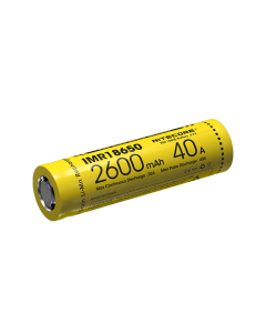 Nitecore IMR18650 2600mAh 40A oppladbart batteri-1pc