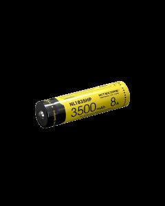 Nitecore NL1835HP 3500mAh 3.6V .6Wh 8A høy ytelse 18650 batteri