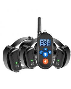 800m elektrisk hundetrening krage, hund sjokk krage m / 3 treningsmodus, elektronisk hund sjokk trening krage med fjernkontroll for små mellomstore store hunder, 100%vanntett