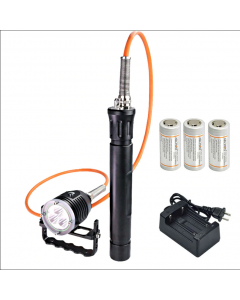 ARCHON DH30 II & WH36 II 3 * CREE XM-L2 U2 3-moduser 3600-Lumes 0m LED Canister dykking lys