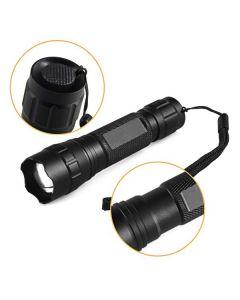 Lyktene WF-501.2 Osram infrarød IR 850nm LED Zoomable LED lommelykt