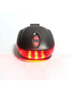 5LED + 2Laser 7 blits sykling sikkerhet sykkel bak lampen, vanntett sykkel Laser halen lys advarsel lampe blinker