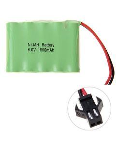Ni-MH AA 1800mAh 6V stor SM Plug batteripakke