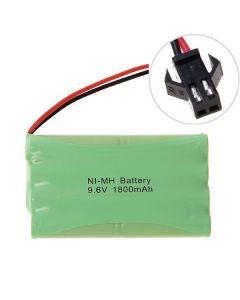 Ni-MH AA 9.6V 1800mAh stor SM-kontakt batteripakke