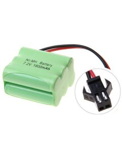 Ni-MH AA 7.2V 1800mAh SM plugg 6 * AA batteripakke