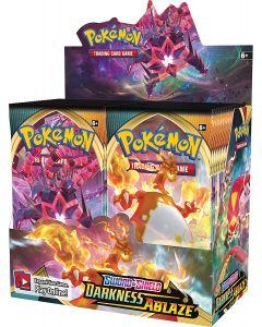 360pcs Pokémon TCG: Sverd & skjold Mørke Brann Forseglet Booster Box 36 Pakker Kort