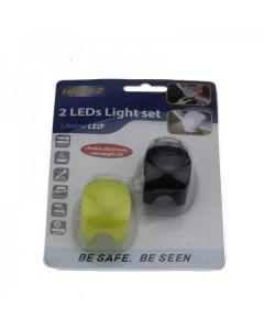 HJ008-2 2-lysdioder svart lys 3-moduser med multifunksjon sykkel baklys