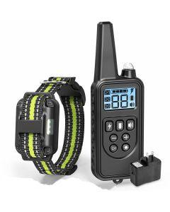 2019 ny 800 meter elektrisk hund trening krage kjæledyr fjernkontroll vanntett oppladbart med LCD-skjerm for alle størrelse bark-stopp krage