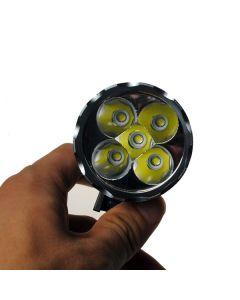 5LED sykkel lys 5000 lumen 3 moduser LED sykkel frontlys inkludere Akkumulator og avgift.