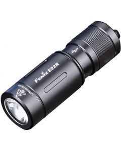 Fenix E02R Cree XP-G2 S3 hvit LED 200 lumen USB oppladbar nøkkelring lommelykt