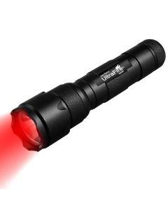 UltraFire WF-502B. 2 XP-E2 LED zoomable rødt lys lommelykt