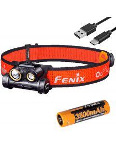 Fenix HM65R-T 1500 Lumen Dual Beam USB-C oppladbar hodelykt, lett for trail kjører med LumenTac batteri arrangør