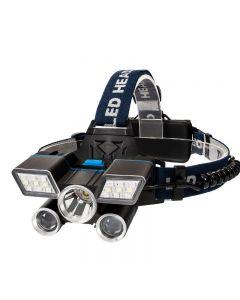 5LED hodelykt USB lade leir fottur beredskap lys fiske utendørs utstyr