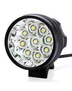 9T6 sykkel lys 9 * Cree XM-L T6 10800 lumen 3 moduser LED sykkel frontlys inkludere Akkumulator og avgift - svart