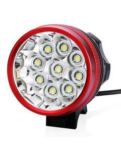 9T6 sykkel lys 9 * Cree XM-L T6 10800 lumen 3 moduser LED sykkel frontlys inkludere Akkumulator og avgift - rød