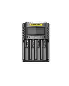 Nitecore UMS4 intelligent USB fire-slot Superd lader for 18650/21700/26650/20700/18350/16340 (RCR 3)/14500/440 batterier
