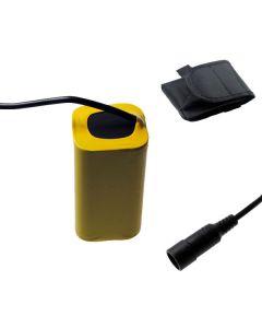 5521 DC grensesnitt 8.4V 4 x 18650 8800mAh sykkel lys batteri for LED sykkel lys foran