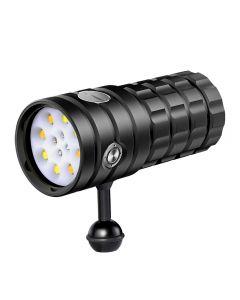 NiteBeam UV 395-400nm dykking lommelykt 8 XHP50 hvitt lys / 4x rødt lys / 4x UV lys LED dykking lommelykt lommelykt
