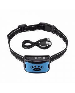 Pet Dog Anti Bjeffende Enhet USB Elektrisk Ultralyd Hunder Trening Krage Hunden Slutte Bjeffing Vibrasjon Anti Bark Krage Dropship