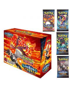 2021 NYE 360Pcs Pokemon TCG: Skinnende Skjebner Booster Box Trading Card Game Collection Leker
