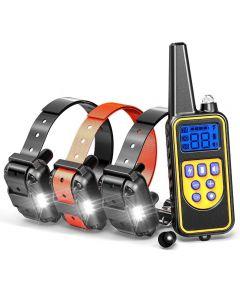 800yd elektrisk fjernkontroll hund trening krage vanntett oppladbar LCD-skjerm for all størrelse pip støt vibrasjonsmodus