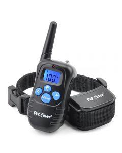 Petrainer 998D 300M ekstern elektrisk hund krage støt vibrasjon oppladbart regntett hundetrening krage med LCD-skjerm