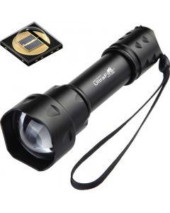 UltraFire T20 10W  lommelykt 850nm 940nm nattsyn zoombar LED  lommelykt