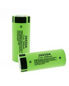 0%original ny 26650A Li-ion batteri 3.7V 5000mA oppladbare batterier