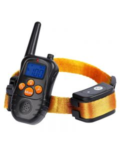 nye 300M ekstern elektronisk hund trening krager med LCD blå skjerm skjerm oppladbare 0 nivåer kjæledyr elektronisk hund krager