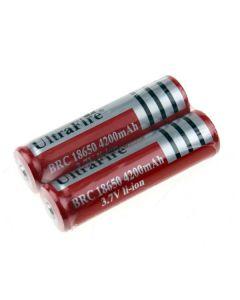 ultrafire BRC 4200mah 3.7V li-ion oppladbart 18650 batteri (1 par)