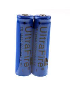 Ultrafire TR 5000mAh 3.7V 18650 Li-ion oppladbart batteri (1 par)
