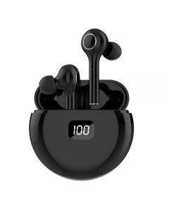 TWS Bluetooth 5.0 Hodetelefoner 400mAh Ladningsboks Trådløs hodetelefon 9D Stereo sport Vanntette ørepropper Hodetelefoner med mikrofon