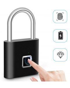 fingeravtrykk lås smart hengelås avtrykk dør hengelåser bærbar anti-tyveri fingeravtrykk lås for bag skuff koffert