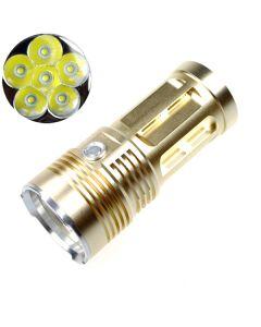 EternalFire kongen 6T6 6 * Cree XM-L T6 LED lommelykt 6000 lumen 3 moduser LED lommelykt-Glod-lys enhet bare