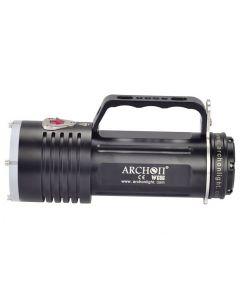 ARCHON DG60 WG66 6 * CREE XM-L2 U2 LED Max 5000lm 3 moduser ledet dykking lys + 6 * 18650 + batterilader