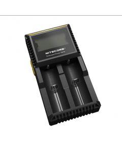 Nye Nitecore D2 Digcharger batterilader LCD Display Nitecore lader for 26650 18650 18350 16340 14500 10440