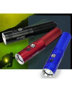 Profesjonell ARCHON V10S dykking fakkelen / 1 * CREE XM-L U2 860 lumen 3 moduser dykking lys klips (1 * 18650, inkluderer ikke)